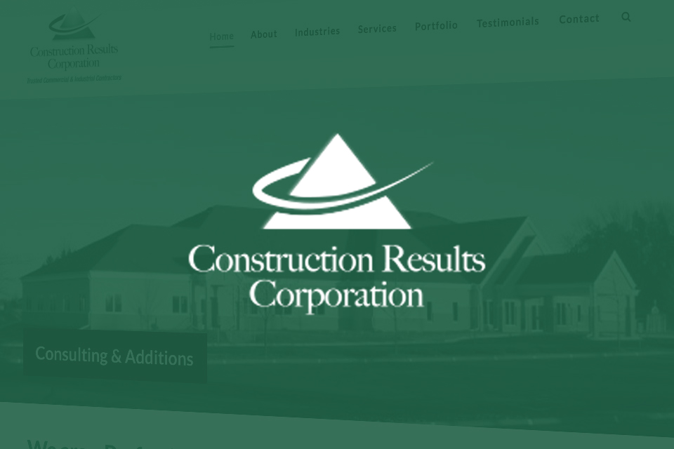 Construction Results Corporation Website